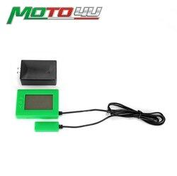 """10 """"intervalo Conjunto Gravador de Receptor Transmissor Infravermelho para Motos de Corrida De Kart Pista CE Aprovado V3 Lap Timer em verde"""