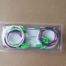 10pcs optic fiber FBT splitter with connector SC APC  1x2 fiber coupler 95/5 90/10 85/15 80/20 75/25 70/30 50/50