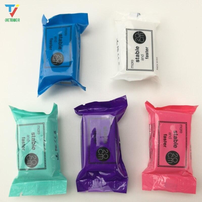 500 sztuk/partia nowe słodkie cukierki kabel USB do ładowania 5 kolorów przenośny 20cm 8pin micro Usb kabel do transmisji danych dla Iphone 8 7 telefonu z systemem Android tanie