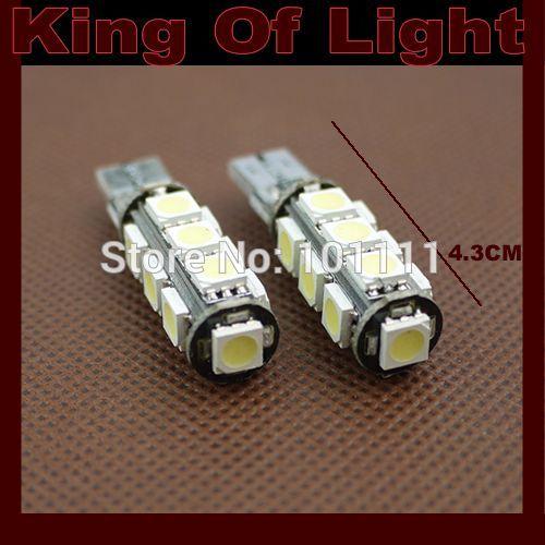 10x carro de alta qualidade conduziu a lâmpada 194 w5w 13smd t10 cunha 13 leds smd 5050 canbus obc erro livre nenhum erro frete grátis