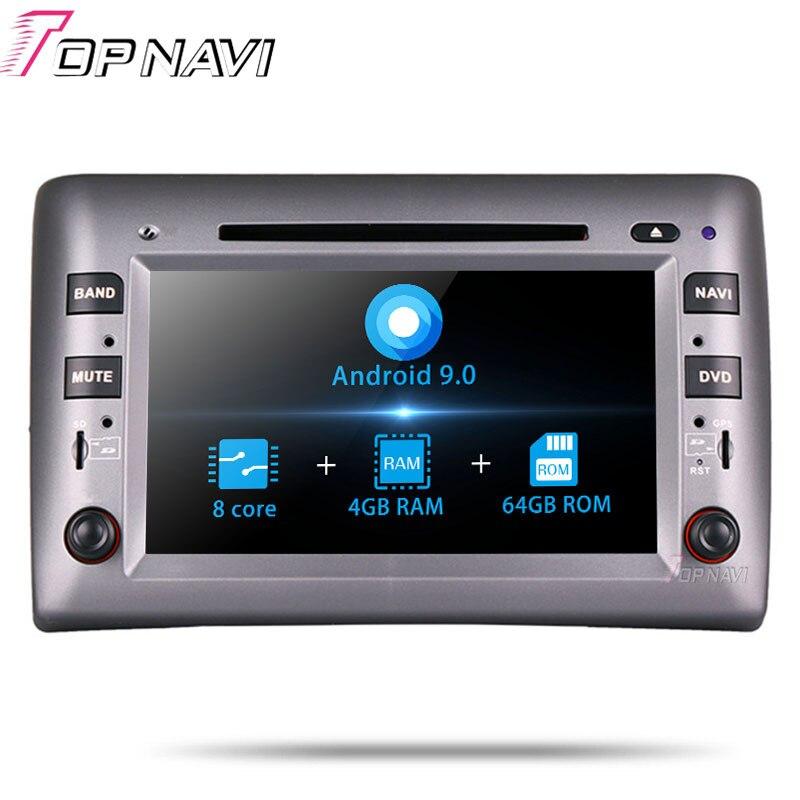 Topnavi Android 9.0 Car PC DVD Player For Fiat Stilo 2002 2003 2004 2005 2006 2007 2008 2009 2010 Stereo GPS Navigation 4G+32G