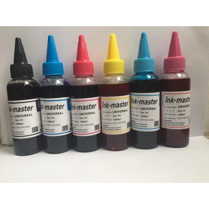 Vilaxh 600ml T0801 tinte de tinta para Epson Stylus Photo P50 R265 R285 R360 RX560 RX585 PX650 RX685 PX700W PX710W PX800FW PX810W