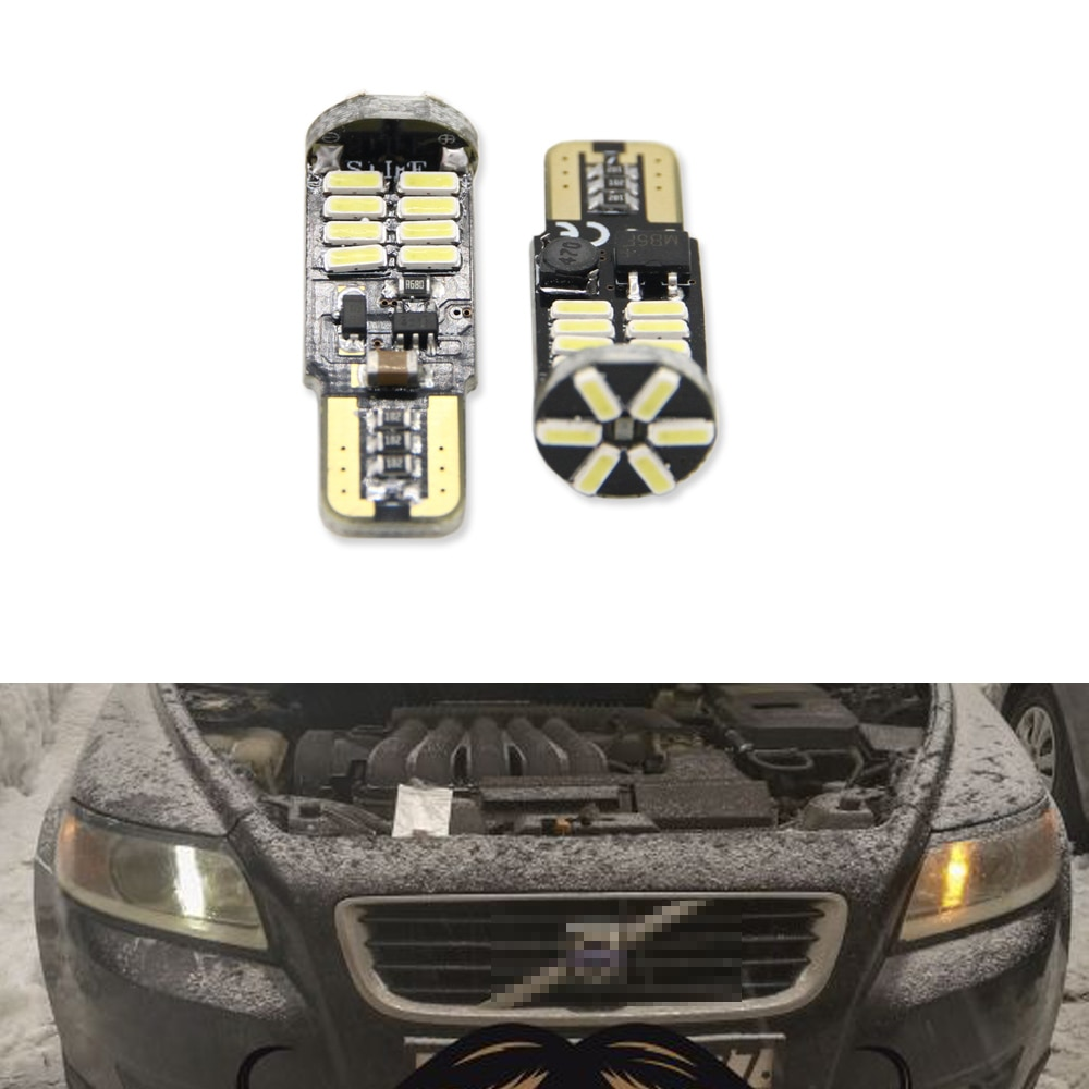 Canbus T10 W5W SMD 4014 22LED coche cuña de luces de estacionamiento Luz Para Volvo S60L S80L XC90 C70 V40 V50 V60 XC60 S40 S60 S80