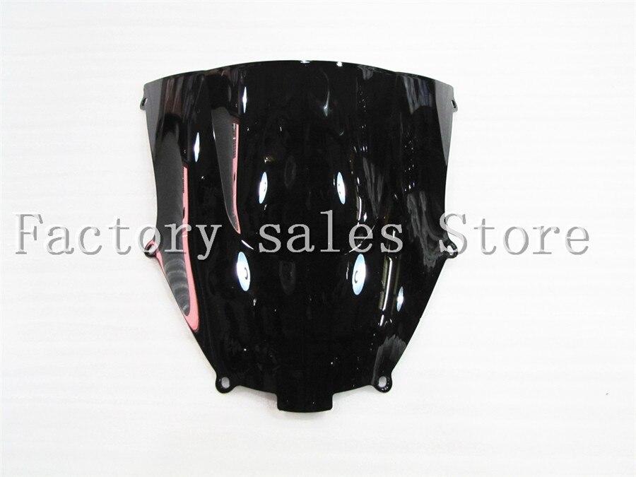 Лобовое стекло для Кавасаки ниндзи, ZX9R, ZX-9R 2000, 2001, 2003, 2004, 2005, черное, Double Bubble 00, 01, 02, 03, 04, 05