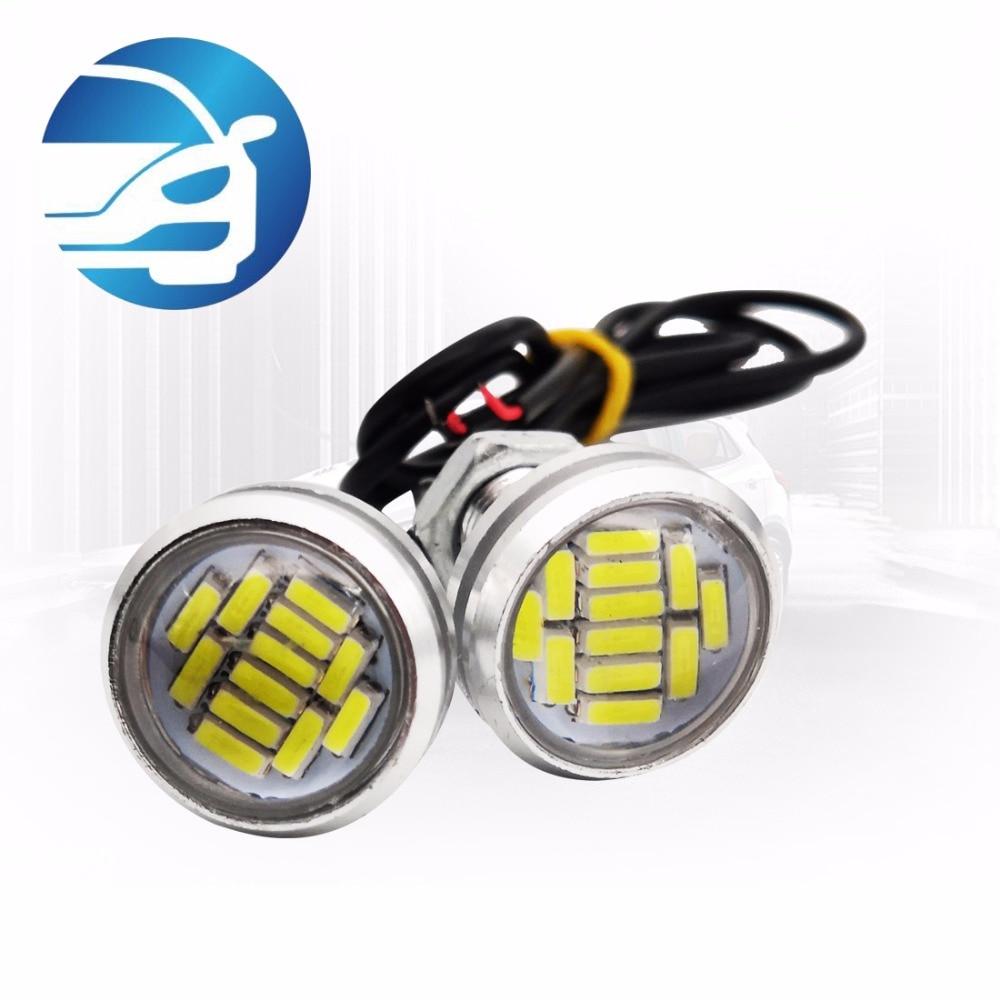2 pcs *Perfect led 4014 12SMD LED Eagle Eye Light Universal DRL Daytime Running Light Lamp Cool White