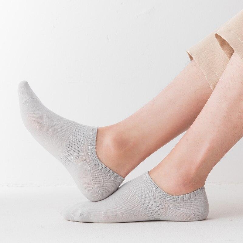 100%, мягкие хлопковые носки, мужские тонкие короткие носки, белые, черные, мужские носки, силиконовые, силикагелевые, противоскользящие, летн...
