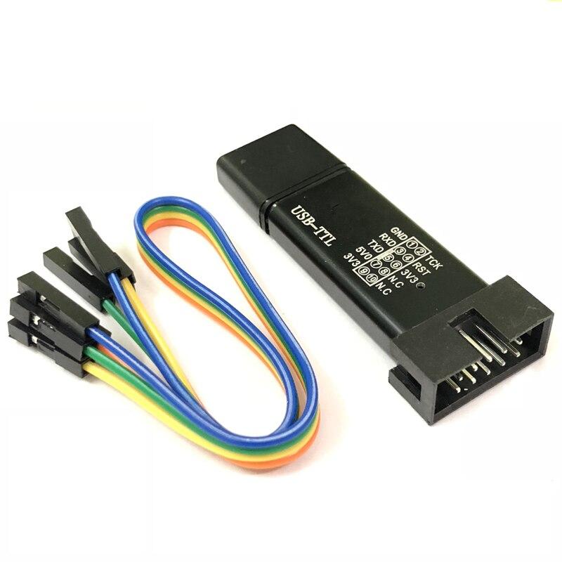100% nuevo STC MCU Dispositivo de línea de descarga automática USB a TTL manual de inicio frío programador STCISP descargar