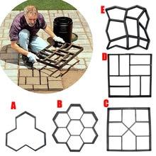 Garden DIY Plastic Path Maker Pavement Model Concrete Stepping Stone Cement Mould Brick can CSV