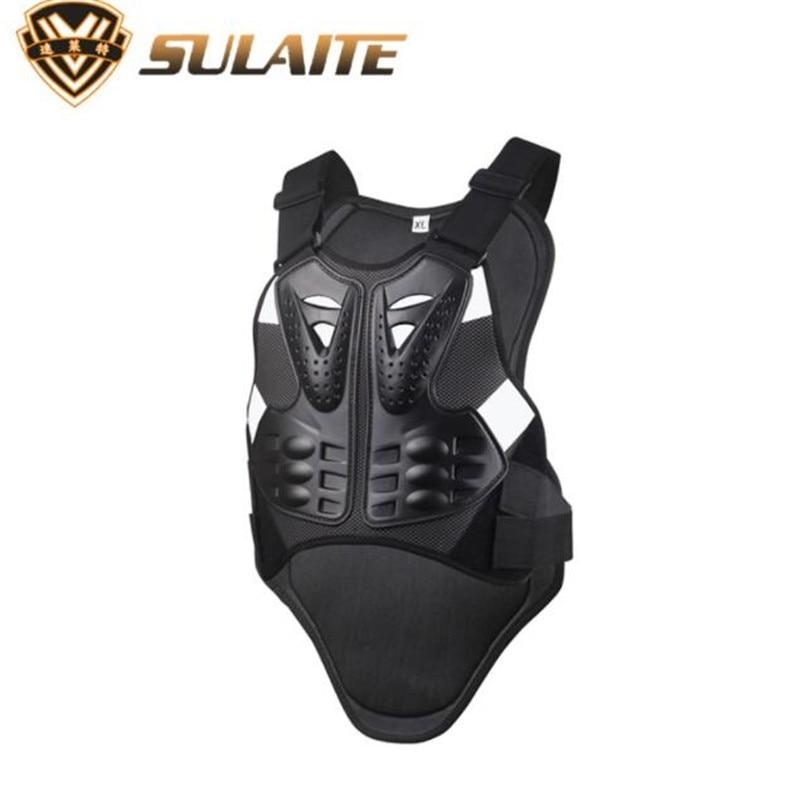 Sulaite motocicleta jaqueta masculina armadura no peito de volta corpo protetor armadura colete motocross engrenagem de proteção jaqueta