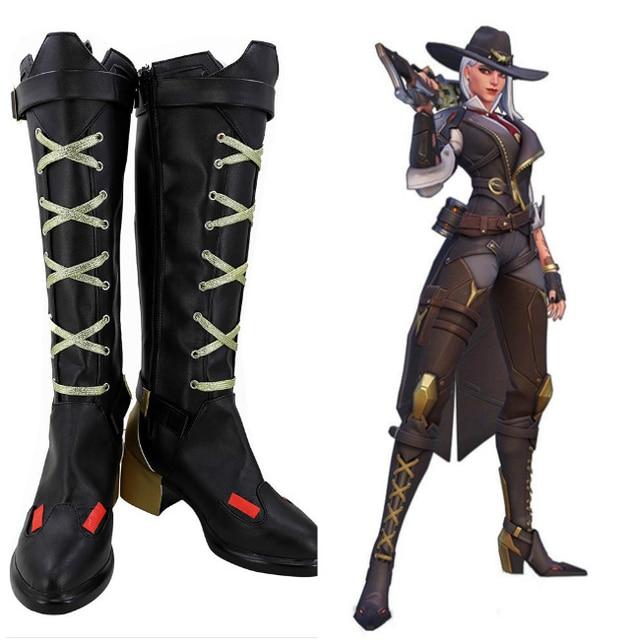 OW Ashe Elizabeth Caledonia Calamity Cosplay botas zapatos hechos a medida