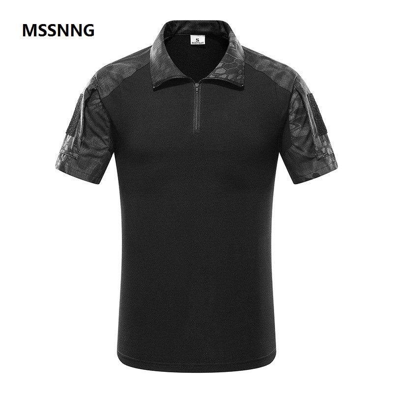 Camiseta militar de manga corta de camuflaje para hombre, camiseta táctica de caza de combate, pantalón de camuflaje Multicam, camiseta
