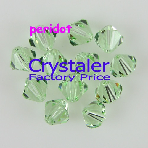 K9 de cristal 5301 # grado AAAA peridoto 3mm 4mm 5mm 6mm 8mm 10mm de vidrio de cristal de Bicone de granos.