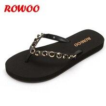 Rivert femmes plage tongs été en plein air pantoufles sandales femme mode pantoufles chaussures plates pour femme chaussures habillées fille chaussures