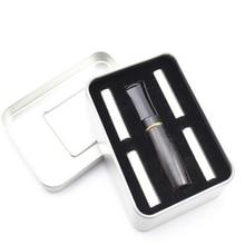 Naturaleza Italia madera de brezo filtración de madera negro tabaco de 8mm soporte de cigarrillos boquilla filtros recto pipa de fumar SNZ3