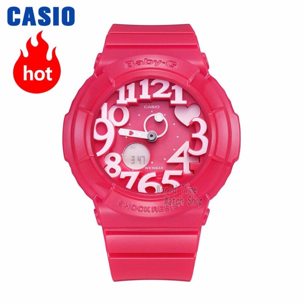 Casio watch BABY-G Women's quartz sports watch fashion trend neon light double display waterproof baby g Watch  BGA-130