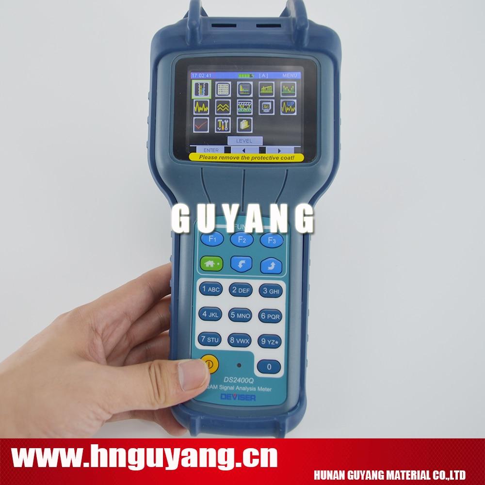 Deviser DS2400Q Signal Level Meter CATV QAM Analyzer supports QAM constellation and analog signals for CATV networks