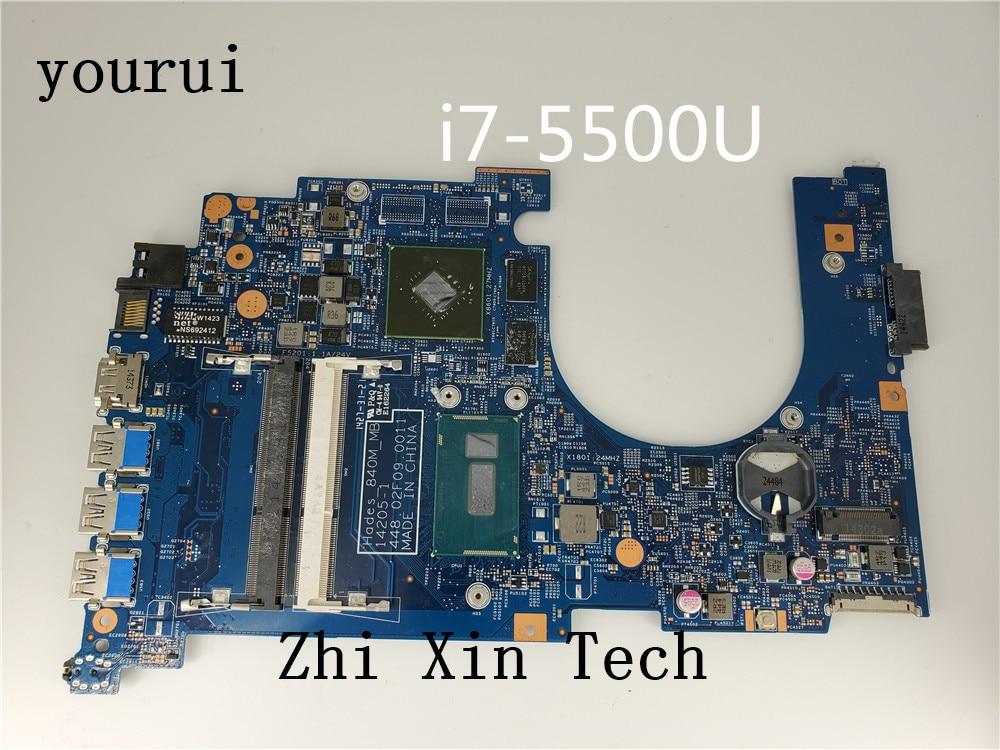 Yourui لشركة أيسر أسباير VN7-571 VN7-571G اللوحة المحمول مع i7-5500u CPU 448.02F09.0011 NBMQK11008 ملحوظة. MQK11.008 DDR3 اختبار