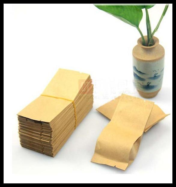 200 pçs/lote Pequenas embalagens sacos de chá em forma de sacos de papel Kraft, saco de embalagem do saco de chá frete grátis