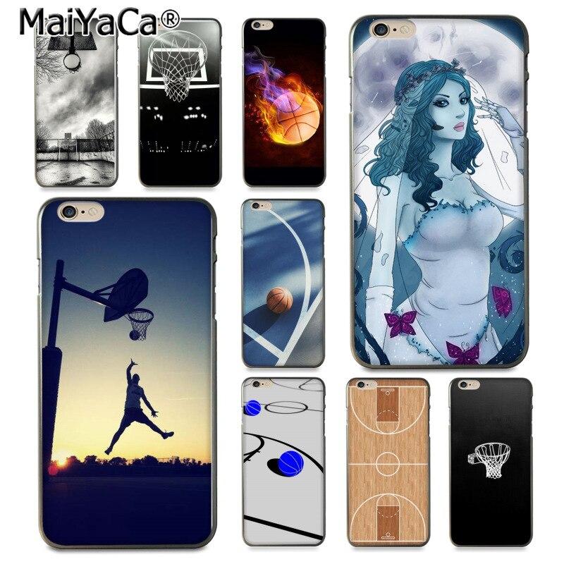 MaiYaCa funda de teléfono de lujo multicolor para cancha de baloncesto para iPhone 8 7 6 6S Plus X XS XR XSMax 10 5 5S SE Coque Shell