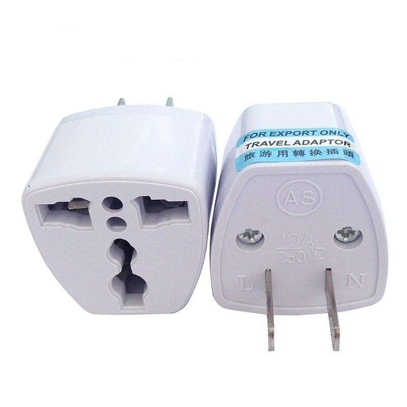 DINTO 100 unids/lote Universal viaje enchufe EU UK AU a US hogar tomacorrientes y adaptador de enchufe adaptador portátil convertidores