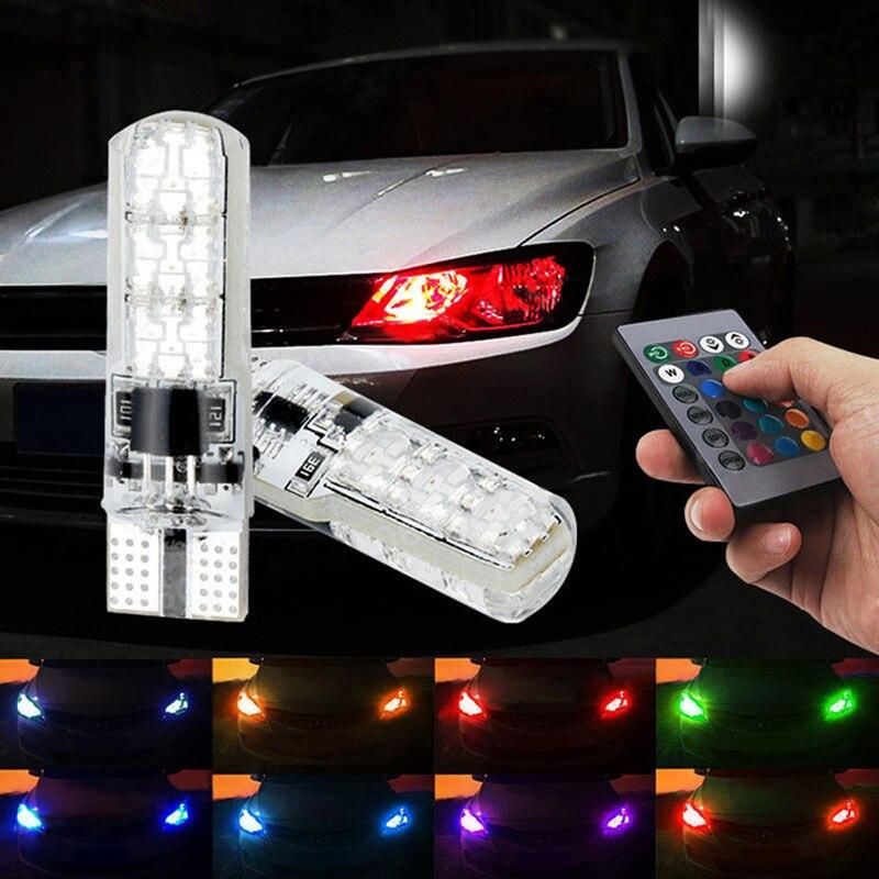 T10 RGB LED Canbus Clearance Light For Skoda Octavia 2 A7 A5 A4 Vrs Fabia 2 1 Rapid Yeti Superb 3 Felicia Citigo RS Tour Octvia