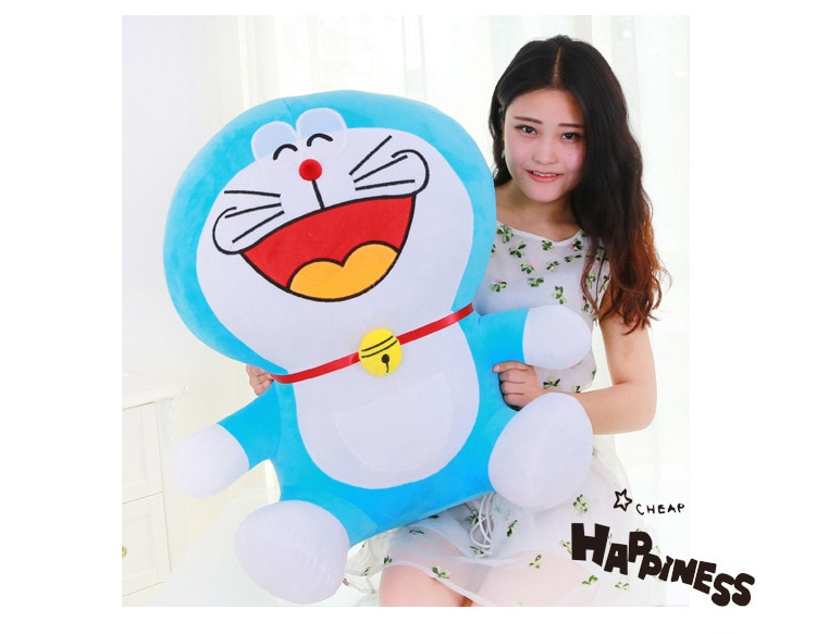 Grande de peluche riendo juguete Doraemon de peluche muñeco de Doraemon regalo perfecto de 70cm