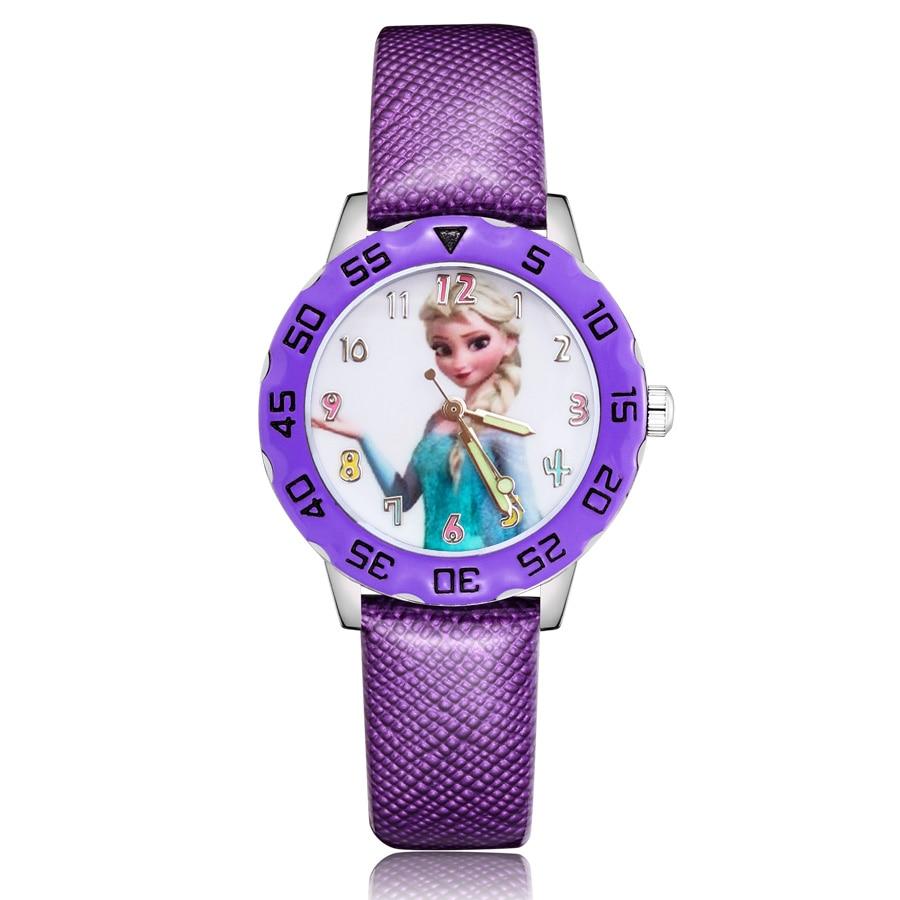 Fashion Cartoon style Childrens Watches Kids Student Girls Boys Quartz leather Wrist Watch Clcok JM115
