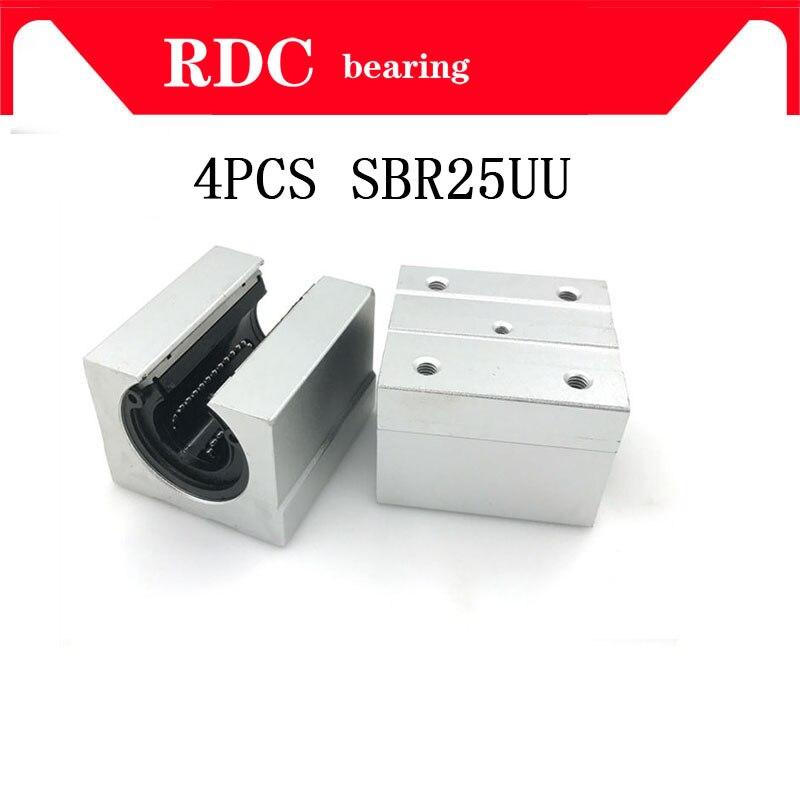 4 шт. SBR25UU SBR25 линейный подшипник 25 мм открытый линейный подшипник скользящий блок 25 мм части ЧПУ линейная направляющая для 25 мм линейная направляющая SBR25