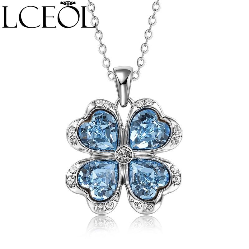 LCEOL hermoso Diamante de imitación largo mariposa collares colgante collar para mujeres collar colgantes suspensión joyería de plata