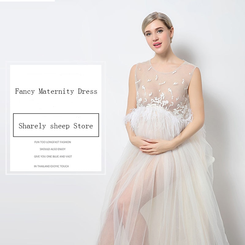 Maternity White Lace Dresses for Baby Showers Pregnancy Photography Props Clothes Pregnant Women Gown Photo Shoot Dress Costume enlarge