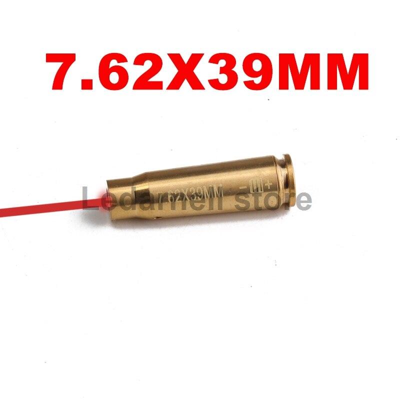 Ledarnell Tactical CAL 7.62X39 cartucho láser rojo calibre Sighter MATERIAL DE LATÓN Lighting para caza Shotgu Rifle