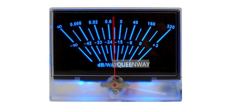 V-027 preamplificador de potencia de Audio de alta precisión Medidor de VU cabecera de nivel DB mesa de presión de sonido con retroiluminación