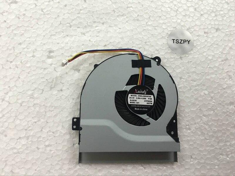Genuíno novo frete grátis original portátil cpu ventilador de refrigeração para asus x550 x550v x550c x550vc s56 s550cm x450 x450ca ventilador