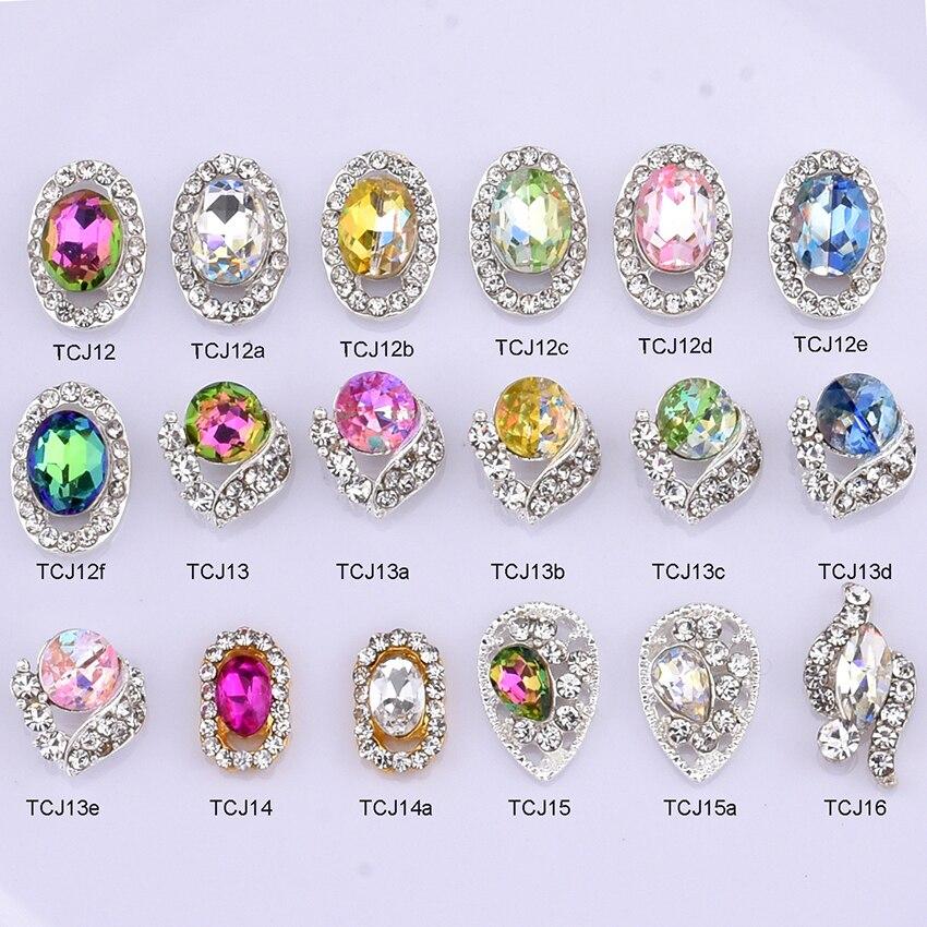 10 pièces cristal ongles decoracion unas brillant pierres précieuses ongles charmes strass nail art décoration matériel outils approvisionnement TCJ12 ~ 16
