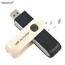 Kebidumei USB Luchtreiniger Auto Luchtreiniger USB Adapter Mini Draagbare USB Ionische Luchtreiniger Ionisator voor Computer Auto PC