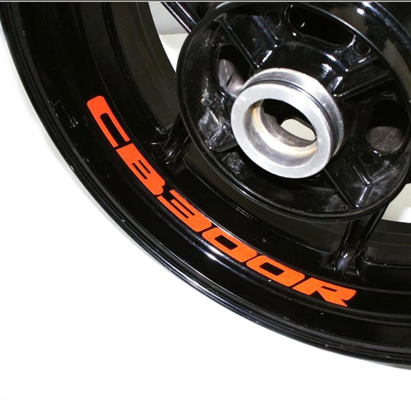 Adhesivo para rueda de motocicleta calcomanía reflectante bicicleta de borde motocicleta adecuada para HONDA CB300R CB 300 R