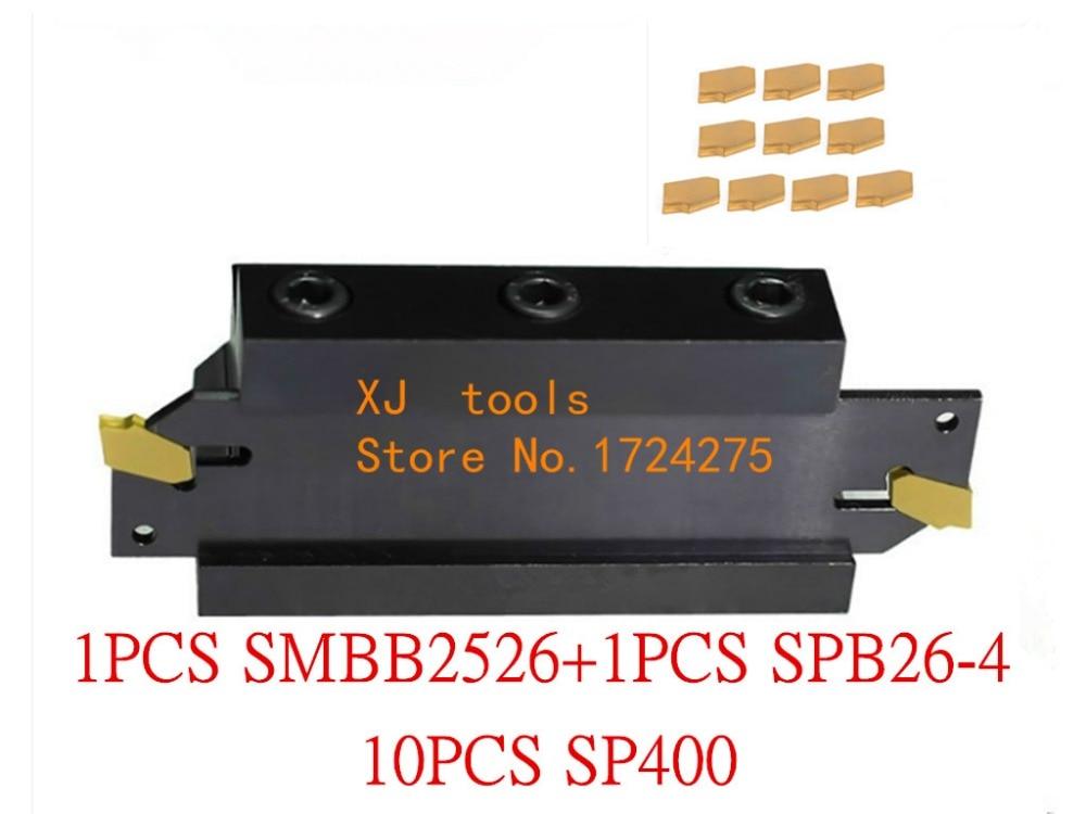 25 مللي متر سويقات SPB26-4 1 قطعة + SMBB2526 1 قطعة + SP400 NC3020/NC3030 10 قطعة = 12 قطعة/المجموعة NC3020/NC3030 الآلات الصلب CNC مخرطة أداة