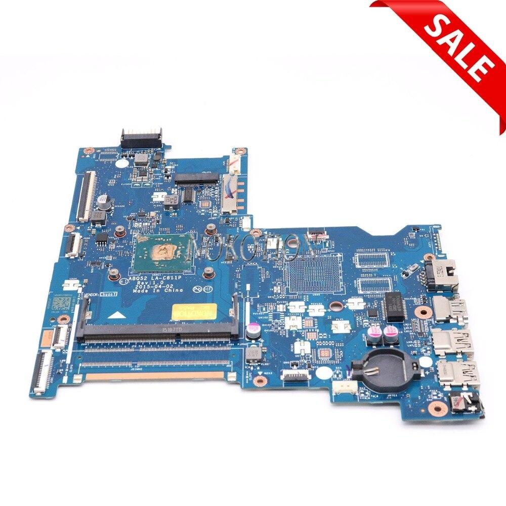 NOKOTION 815248-501 815248-001 لوحة رئيسية لأجهزة HP الكمبيوتر المحمول 15-AC اللوحة الرئيسية ABQ52 LA-C811P مع وحدة المعالجة المركزية على متن الطائرة
