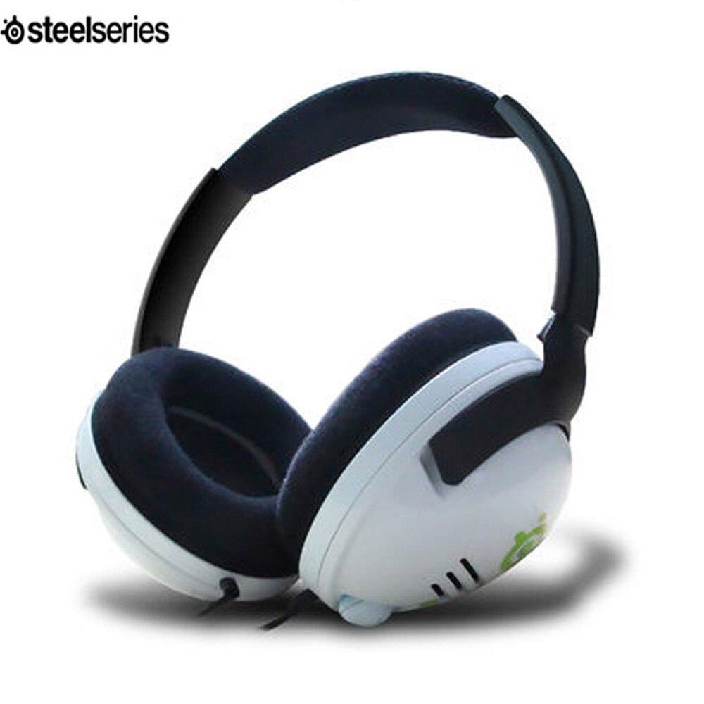 H4 наушники Steelseries, профессиональная игровая гарнитура для геймеров CS/CF/LOL Bass, проводные стереонаушники для ПК с музыкальной игрой