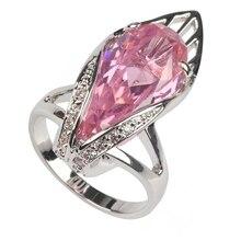 SHUNXUNZE luxury wedding rings for men and women Pink Rainbow Cubic Zirconia Rhodium Plated R136 R3597 size 6 7 8 9 10 11 12 13