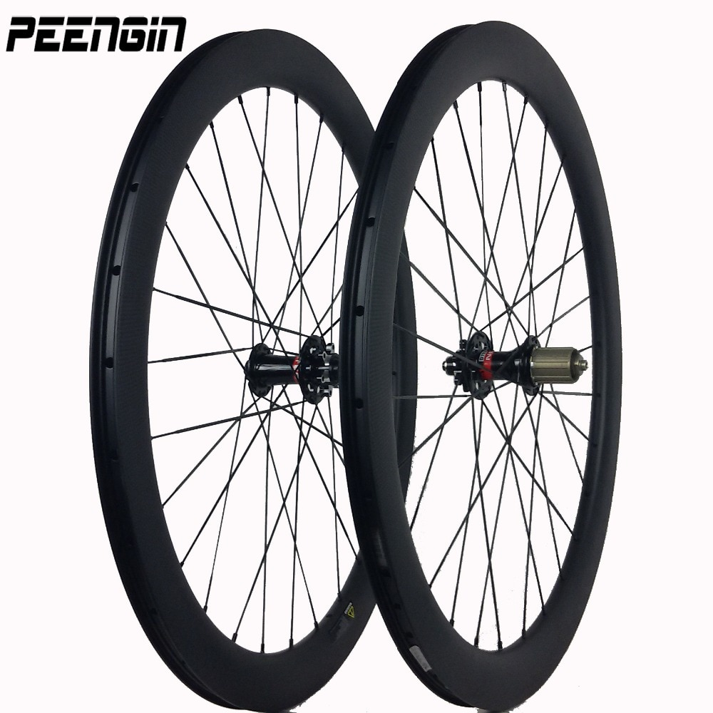 Ruedas de carbono cyclo cross road freno de disco 60mm 3K llantas para cubiertas 23/25mm DIY pintura OEM calcomanías están disponibles juegos de ruedas