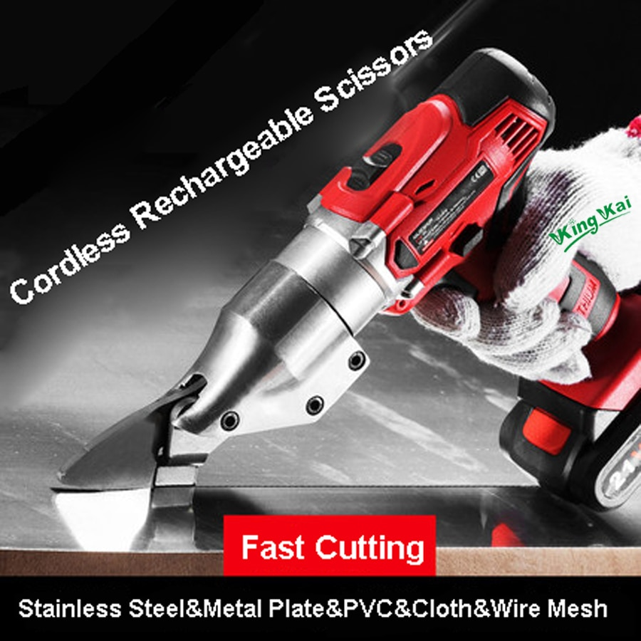 Y21V Cordless Rechargeable Lithium Battery Electric Scissors Cut Cloth Color Plate Stainless Steel Iron Al Plate Wire Mesh Shear enlarge