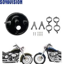 7 inch Motorcycle Headlight Housing Bracket Motorcycle shell side Mounting Bracket Adjustable Bracket For Honda Yamaha