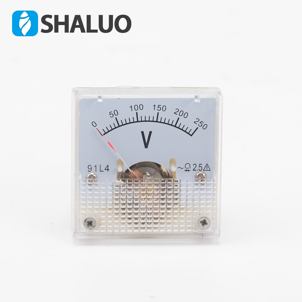 Generator Parts Voltmeter 91L4 Small Voltmeter 0~250V AC Single Phase Voltage Meter Mechanical Pointer