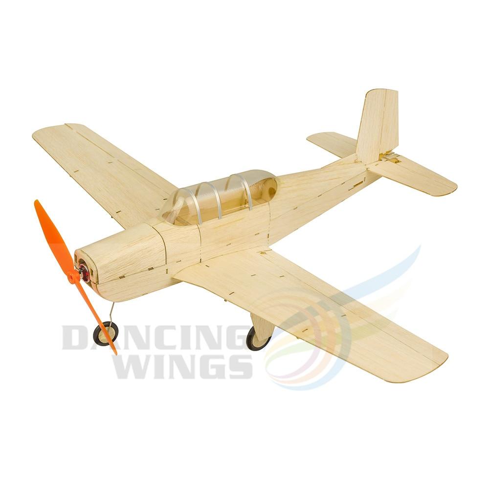RC télécommande avion Balsawood Micro T-34 jouet avions modèle bois avion maquettes Kits bricolage Laser découpe bâtiment avion K13