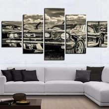 Модульная HD Печать художественная работа современный спортивный автомобиль постер домашний/офисный Декор настенная живопись 5 шт. картины ...