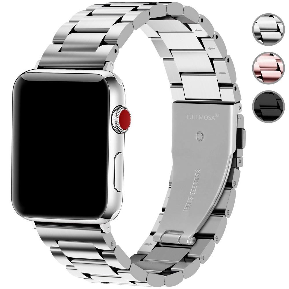 De acero inoxidable reloj de Apple bandas 44mm 42mm 40mm 38mm iWatch correa de la venda de reloj para Apple Watch serie 4 3 2 1 Nike + edición