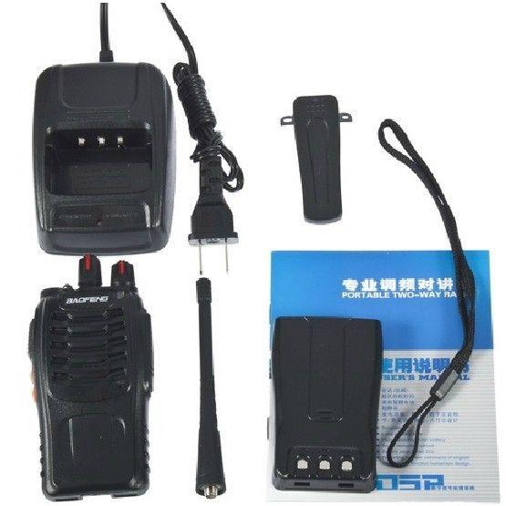 BF-888S UHF 400-470MHz 16CH intercomunicador portátil de mano Radio de 2 Vías + auricular gratis