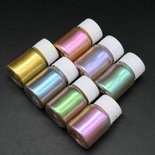 Bricolage résine époxy colorant de remplissage perle Pigment œil de chat nacré poudre minérale artisanat fait à la main faisant des ongles de beauté accessoires