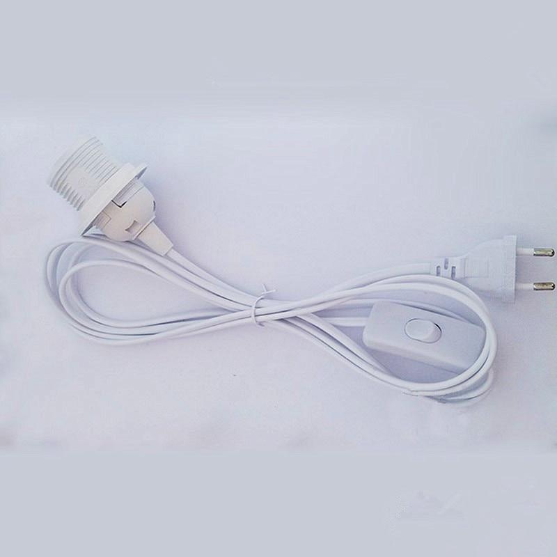 Кабель для шнура питания 1,8 м, цоколь E27, круглая вилка с проводом выключателя для лампы E14, держатель лампы 220 В, подвесная розетка для светильника